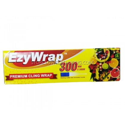 Kertas (Cling Film/with Cutter Bar) 保鲜纸 12inches EZWRAP 300mmx300m - 6gulung/ctn